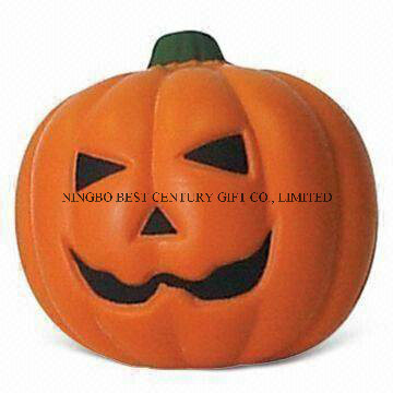 PU Foam Squishy Stress Toy Pumpkin Shaped