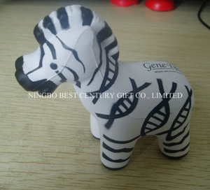 PU Foam Gift Toy Zebra Design Promotional Stress Balls