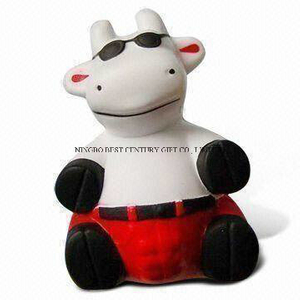 PU Foam Toy in Cow (Sitting Style) Promotional Stress Balls
