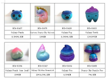 Wholesale Scented PU Galaxy Series Soft Squishy Slow Rising Toys