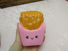 Squishies Pink Chips Fries PU Foam Slow Rising Squishy Toy