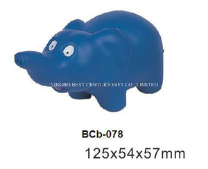PU Foam Antistress Toy Elephant Design Promotional Stress Ball