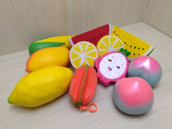 Cute Squishies Fruits Sets PU Foam Slow Rising Squishy Toys