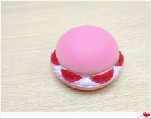 Hot Selling PU Foam Strawberry Hamburger Squishy Slow Rising Toys Squishys