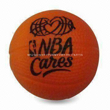 PU Foam Stress Ball Basketball (NBA) Shape Toy