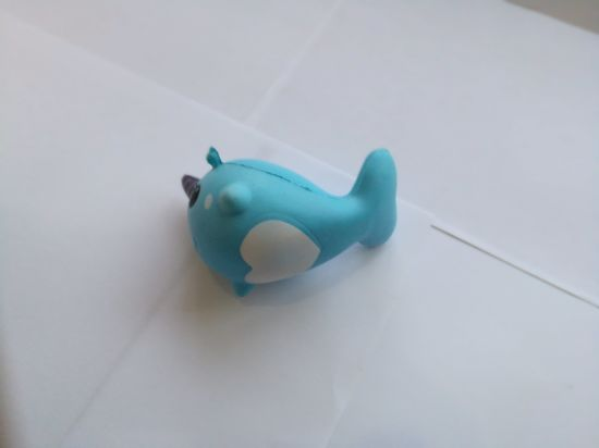 Wholesale Blue Unicorn Whale PU Soft Squishy Slow Rising Toy