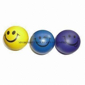 PU Foam Smiley Stress Ball Shape