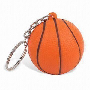 PU Stress Basketball Keychain Toy