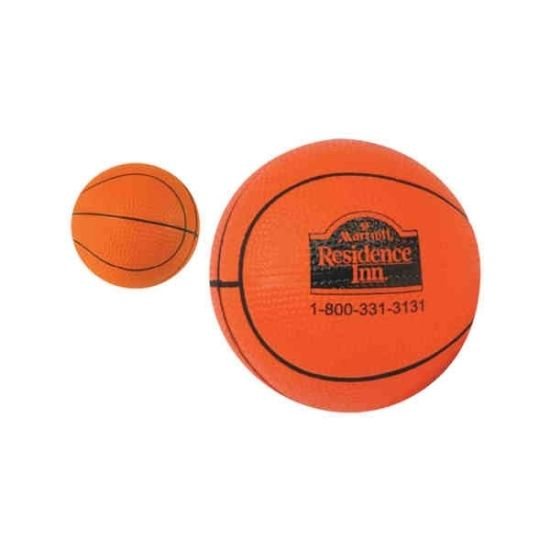 Basketball Shape PU Antistress Ball Toy