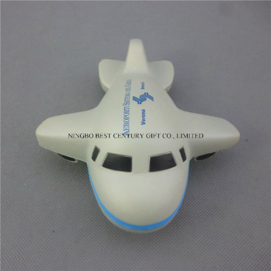Large Plane Design PU Foam Promotional Toy Stress Ball