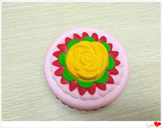 Wholesale Squishies Cute Flower Cake PU Squishy Slow Rising Scented Toy
