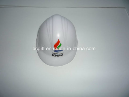 PU White Safety Hat Helmet Stress Toy