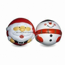 PU Stress Squishy Toys Christmas Santa Claus and Snowman Shapes