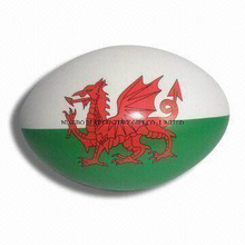 PU Foam Stress Ball Plain Rugby Ball Shape with Logo