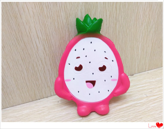 Half Dragon Fruit Doll Slow Rising PU Soft Squishy Toy
