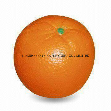 Wholesale PU Foam Squishy Stress Toy Orange Fruit Design
