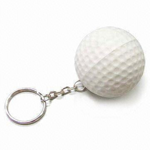 PU Stress Golf Ball Keychain Toy