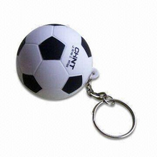 PU Stress Soccer Ball Football Keychain Promotional Toy