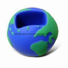 PU Foam Gift in Globe Ball Mobile Phone Holder Design