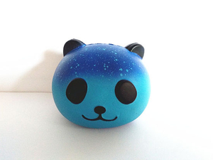 Scented PU Galaxy Panda Head Soft Squishy Slow Rising Toys