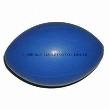 PU Foam Stress Ball English Style Rugby Ball Shape Toy