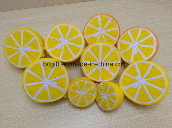 PU Squishy Toy Half Lemon Shape Squeezable Slow Rising Squishies