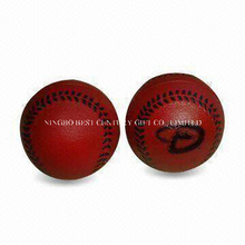 PU Foam Stress Ball Red Baseball Shape