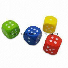 PU Foam Stress Reliever Toys Dices Design Various Colors