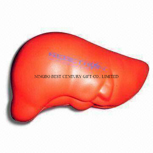 Human Organ PU Foam Stress Toy Promotional Stress Balls
