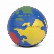 PU Foam Anti Stress Ball Globe Ball Shape