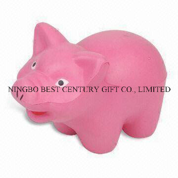 PU Foam Toy Piggy Shape Promotional Stress Balls