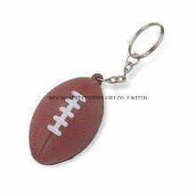 PU Stress American Football (Rugby Ball) Keychain Promotional Stress Balls