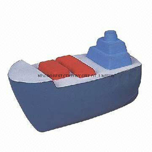 Boat Design PU Foam Promotional Toy Stress Ball