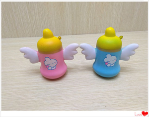 Hot Selling Angel Milk Bottle PU Squishy Slow Rising Toy
