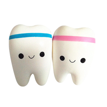 PU Squishy Super Soft Slow Rising Toys Teeth Smiley Shaped